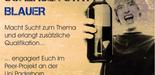 """Werbeplakat zum Thema """"Schlauer statt blauer"""""""
