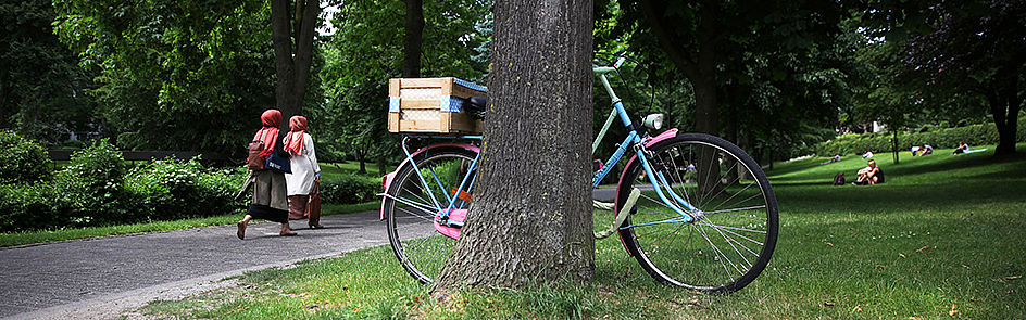 Universität und Stadt – auf dem Campus erreicht man alles zu Fuß, in der Stadt ist man am schnellsten mit dem Fahrrad.