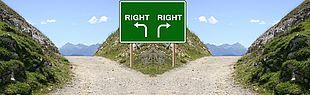Das Bild zeigt eine Gablung, die symbolisch für optionale Wege stehen (Quelle: pixabay)