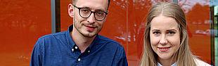 Unsere Talentscouts Jan-Steffen Glüpker und Annkatrin Buchen (Foto: Universität Paderborn, Johannes Pauly)