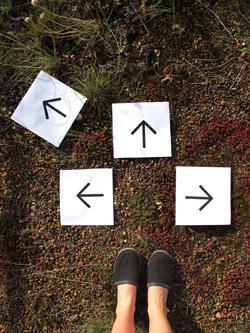 Pfeile als Symbol der unterschiedlichen Möglichkeiten